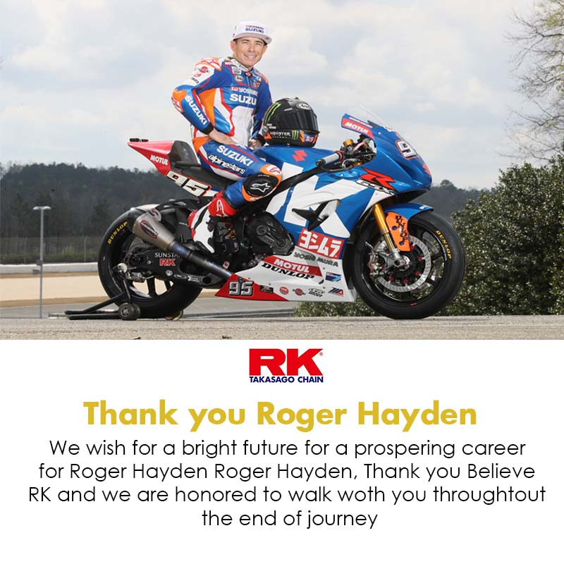 Yoshimura Suzuki's Roger Hayden Announces Retirement Former AMA Supersport Champion Calling It a Career After 20 Years as a Pro